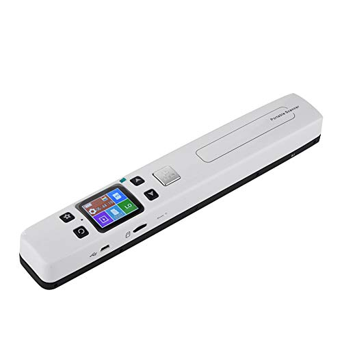 Richer-R Handscanner, Tragbarer Wifi Scanner Dokumentenscanner Fotoscanner,HD 1050DPI Null-Rand Wireless Scanner mit 32GB Mikro SD Karte,Office Learning Wifi Handscanner Weiß(White)