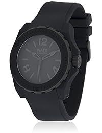Watx RWA1800 - Reloj con correa de caucho para hombre, color negro / gris
