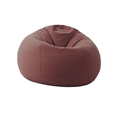 Sitzsack Adult Lazy Sofa Kids Hitzebeständige Anti-Fouling-Lounge Geeignet Für Die Aufbewahrung Von Spielzeug BBB (Color : Linen Brown) -