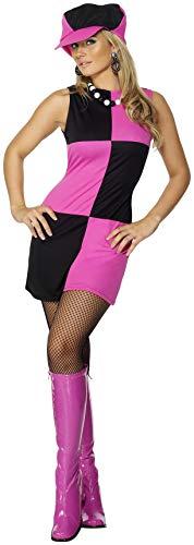 60er Jahre Kostüm Swinging - Smiffys Damen Swinging 60er Jahre Kostüm, Kleid und Mütze, Größe: M, 30194