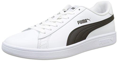 Puma Smash V2 L, Baskets de Cross Mixte Adulte, Blanc White Black, 47 EU