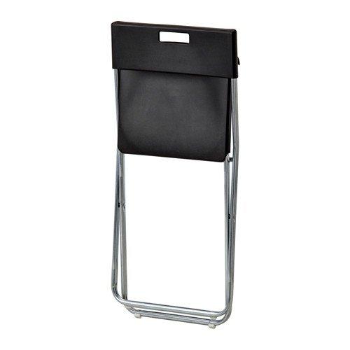 Ikea Gunde, folding chair, black black