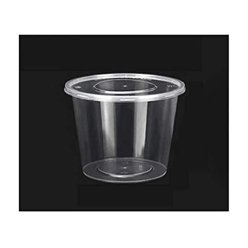 Xiao-bowl3 400 Boxen Kunststoff Bento Box Mahlzeit Lagerung Lebensmittelzubereitung Lunchbox Einweg-Mikrowellenbehälter Home Lunchbox 2000ML (Color : Black) -