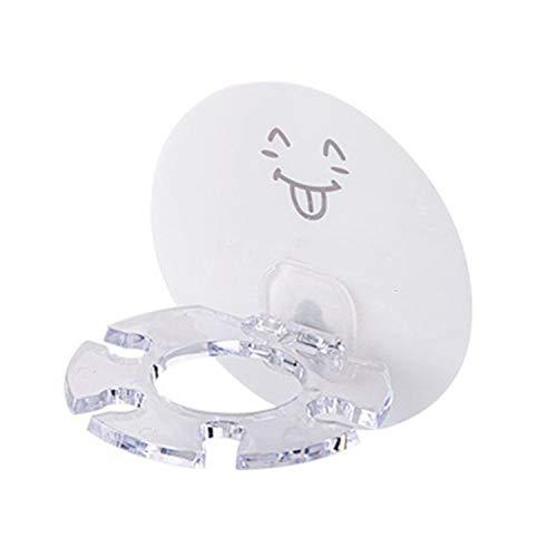 whall-fall - Cepillo de Dientes de plástico para Almacenamiento de Pasta de Dientes, Accesorios de baño, sin Perforaciones, Smiley Face, Talla única