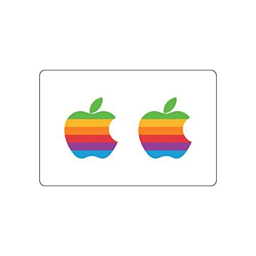 Apple-Logo-Aufkleber, 2Stück | MacBook Retro-Aufkleber | iPhone, Special-Event-Design