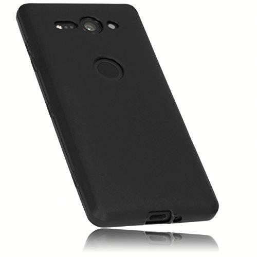 mumbi Hülle kompatibel mit Sony Xperia XZ2 Compact Handy Case Handyhülle, schwarz