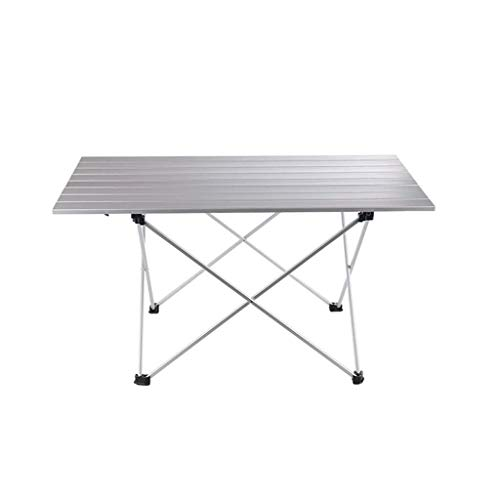 LYFHL-Folding table Picknicktisch, Aluminium tragbare leichte Klapptisch Outdoor BBQ Tisch Picknick Camping und Camping Klapptisch Stühle