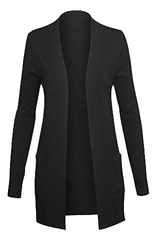 Classique Cardigan des femmes avec des manches longues et poches ouvertes