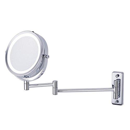 Make-up-Spiegel 1X und 5X Vergrößerung doppelseitigen Wandspiegel für Hotel Badezimmer bereit zu hängen 6 Zoll ()