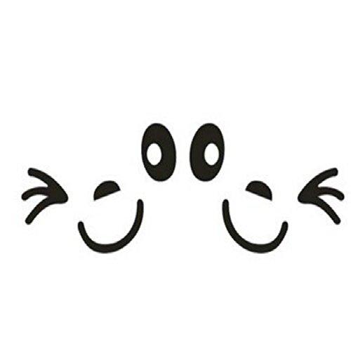 weimay Selbstklebende Aufkleber für die Etiketten Gummierte lächelnd Gesicht des KFZ Spiegel des für die Dekoration Auto