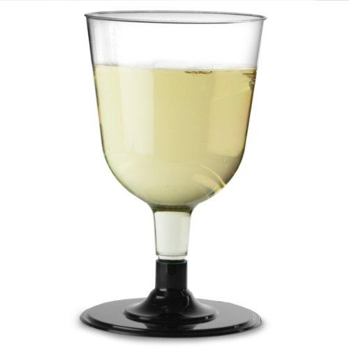 Verres à vin jetables Noir 150,3 gram/150 ml/15 cl – Pochette de 12 | Plastique Verres à vin, verres à vin de fête, Buffet Verres à vin
