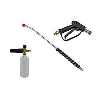 pwpuk Kompakte Schnellspanner-Waschpistole, 11,6 mm, 700 mm Lanze & Schneeschaum-Lanze, 1/4 Zoll M Einlass