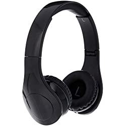 AmazonBasics Casque audio filaire à niveau sonore limité pour enfants avec double entrée pour le partage d'écoute, Noir