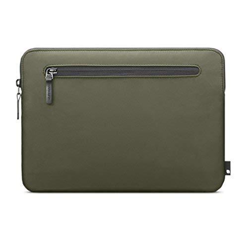 """Incase Compact Sleeve Schutzhülle für Apple MacBook 12\"""" - olive grün [Flight Nylon I Zubehörtasche I Kunstfell-Interieur I Hochwertiger Reißverschluss] - INMB100337-OLV"""
