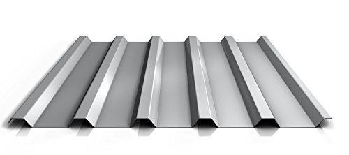 Trapezblech | Profilblech | Dachblech | Profil PA35/1035TRA | Material Aluminium | Stärke 0,70 mm | Beschichtung 25 µm | Farbe Weißaluminium