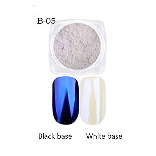 GODDOIT 7 Jar Meerjungfrau Pearl Powder Chrom Nägel Spiegel Effect Nail Art Glitter Pigment Staub Irisierend Trend -