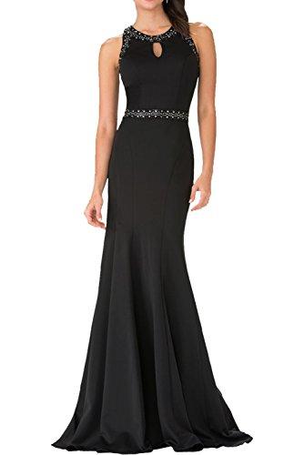 Charmant Damen Dunkel Rot Elegant Satin Abendkleider Brautmutterkleider Meerjungfrau Partykleider festlichkleider Schwarz