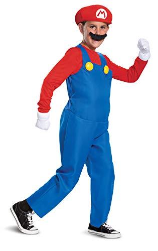 Super Mario Bros DISK10772K Kostüm, Jungen, Mario, Mittel (Super Mario Child Deluxe Kostüm)