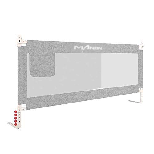 XUE Graue Farbe Sicherheit Bettgitter, Kinder vertikale Lift Bett Leitplanke für Kleinkind trinkbar Lange Bettgitter für Kleinkinder,180cm - Nachricht Matratze