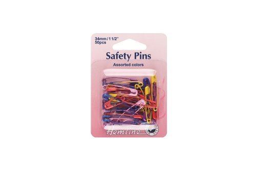hemline-h414ac-red-pink-yellow-purple-coated-safety-pins-34mm-size-1-50pk
