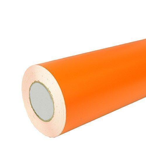 Unbekannt Rapid Teck® 5,39€/m² Matt Folie - 034 Orange - Klebefolie - 5m x 63cm - Folie Matt Plotterfolie - Klebefolie selbstklebend - auch als Moebelfolie - Dekofolientage -