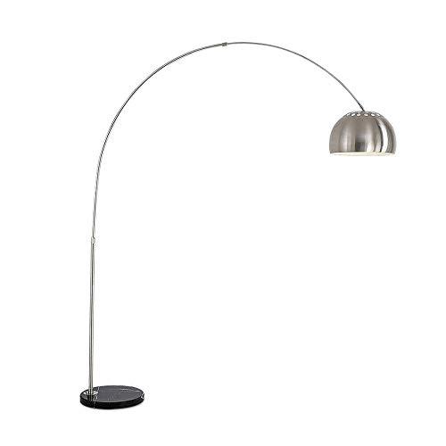 Moderne LED-Lesestehlampen, 180 Grad Verstellbares Edelstahl-Stehlampenlicht Für Sofa/Schreibtisch/Wohnzimmer/Büro/Schlafzimmer, Dimmbare Fußschaltersteuerung