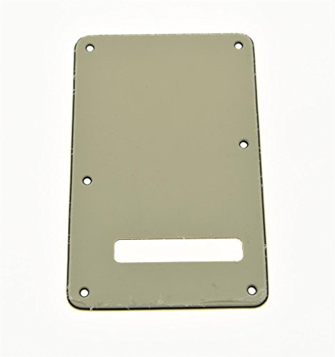 kaish Strat Backplate ST Tremolo-Cover Alt Weiß 3-lagig Strat Backplate