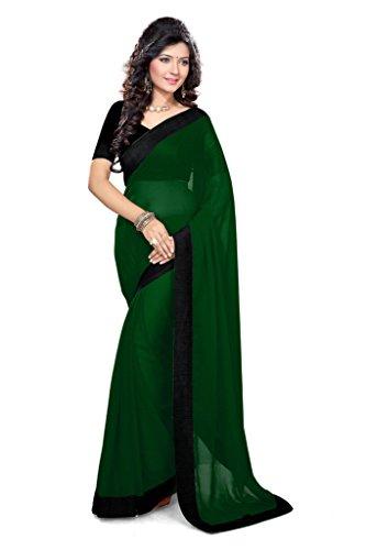 Damen Designer Sari mit Ungesteckt Oberteil/Top Mirchi Fashion Gedruckte (Kostüm Kleid Pretty Woman Roten)