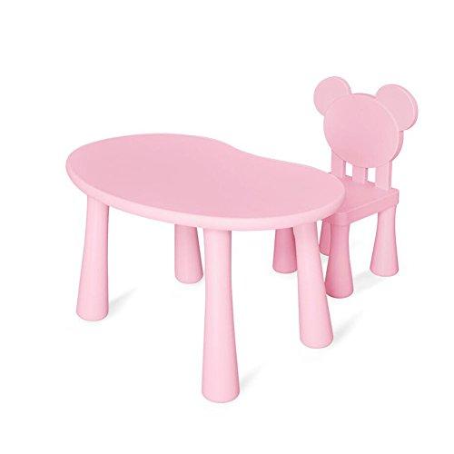 XUERUI Tables Bureau Chaises Table Ensemble Meubles des Gamins Enfants Garçons Filles Étude Table Adapté pour Jardin Ou À L'intérieur Garderie Résistant (Couleur : 1)