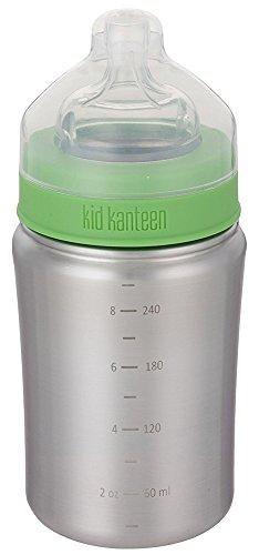 Klean Kanteen 1000277 Kinderflasche, 266 ml, silber matt (Edelstahl Baby)