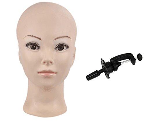 Calva hembra Make Up maniquí cabeza cometology maniquí de cabeza para peluca Making y sobremesa