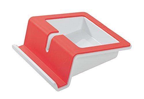 Preisvergleich Produktbild HAN 92100-47 UP Tablet Stand; mit Softgrip Oberfläche und Kabelhalterung; i-Colour rot