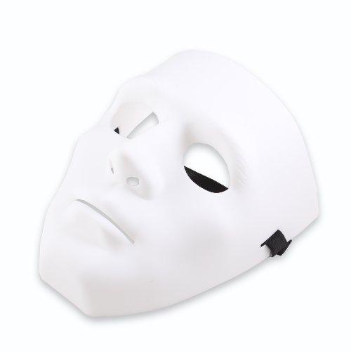 SYMTOP Weiß Maske Kostüm Kostümzubehör Halloween Party Prop Jabbawockeez Hiphop ()