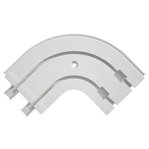 Flairdeco Rundbogen für PVC-Gardinenschienen, 2-läufig, Plastik, Weiß, 1 Paar