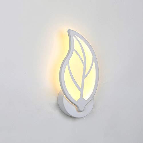 Lámpara de pared LED Apliques Interior Moderna Luz de noche de acrílico en forma de hoja para dormitorio...