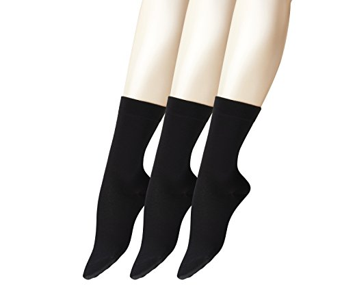 FALKE Damen Socken Cotton Take Bundle, 3er Pack, Schwarz (Black 3009), 39/42