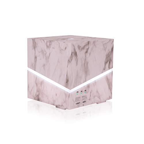 Humidificador elegante de estilo mármol. Difusor de aromas y vapor frío ultrasónico para decoración. Vaporizador de diseño con aceites esenciales y led con 7 colores de diferente luminosidad