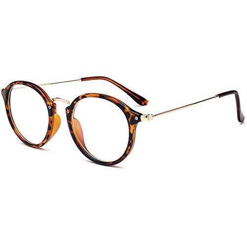 a3576c2462 YUNCAT Retro redondo gafas Claro Anteojos Transparentes - Redondo Ultrafino  Marco de Metal Gafas de Lectura