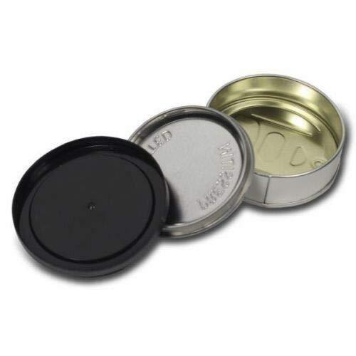 100-ml-Dosen, Thunfisch Drücken-Self Seal Dosen mit Deckel schwarz, aus Kunststoff Schwarz