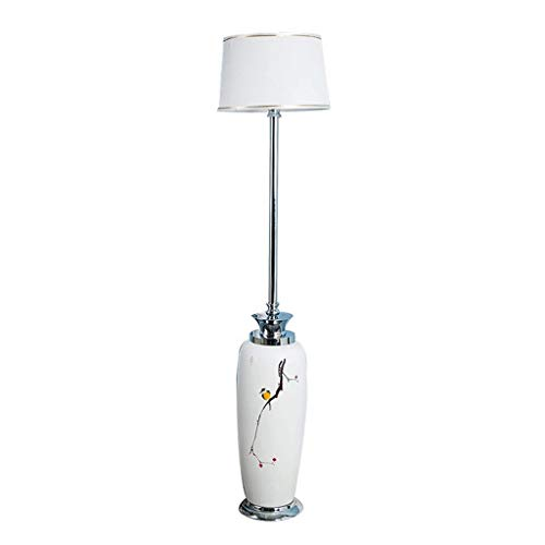 &Stehleuchte Stehlampen LED Keramik Lesen Fernbedienung Dimmen Wohnzimmer Schlafzimmer Nachttischlampe Single Layer Lampenschirm Stehlampen &Beleuchtung - Klassisches Single-outdoor-led