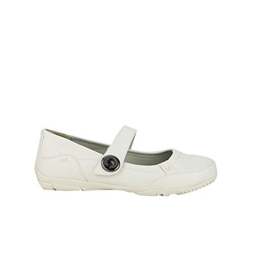 Cendriyon, Ballerine Blanche CASUAL Chaussures Femme Blanc