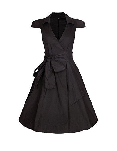 ROBLORA Damen Kleid Kleid - Noir.C