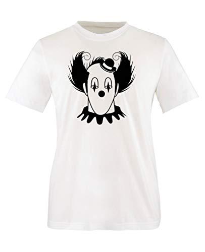 Comedy Shirts - Halloween Clown - Jungen T-Shirt - Weiss/Schwarz Gr. 122-128