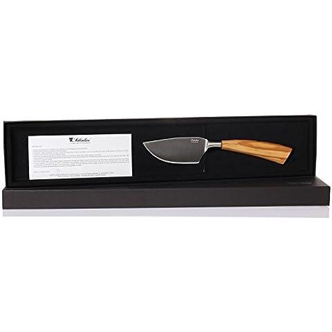 Saladini - italiano Cuchillo de queso duro, Mango de madera de olivo