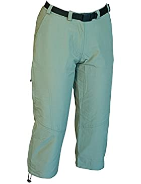 Deproc Active Kenora - Pantalones Piratas elásticos para Mujer, Todo el año, Mujer, Color Gris - Schilf, tamaño...