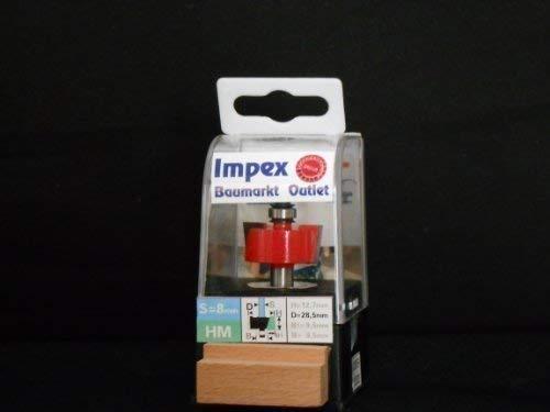 LUX 105830 HM-Falzfräser Aufnahme Zylinderschaft 8 mm Größe in mm 28,5 mm PROFI