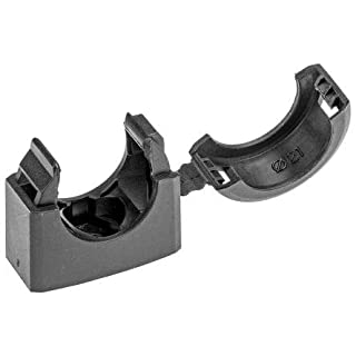 Adaptaflex Cable Clip Black Screw Nylon Conduit Clip, 21mm Max. Bundle