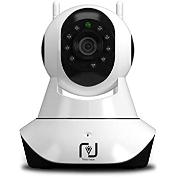ThinkValue T8855 Wireless HD IP WiFi CCTV Indoor Security Camera (Supports Upto 128 GBB SD Card)