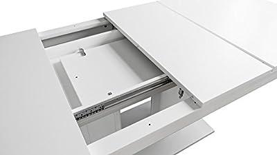 Möbel Akut Esstisch Heidelberg Tisch weiß ausziehbar 140-220 x 90 cm 2 Einlegeplatten von Finori - Gartenmöbel von Du und Dein Garten