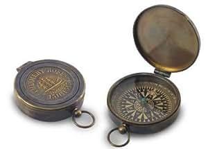 Boussole en laiton Vintage, diam. 9 cm